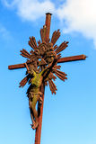 An old crucifix. Royalty Free Stock Photo