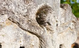 Old crucifix gravestone Royalty Free Stock Images