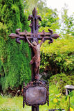 Old  crucifix with Jesus Royalty Free Stock Image