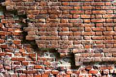 Old crumbling brick sighest grunge style Royalty Free Stock Image