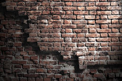 Old crumbling brick sighest grunge style Stock Photography
