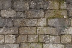 Old crumbling brick wall. Old crumbling rough brick wall texture Stock Photos