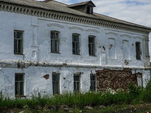 The old crumbling building in the Russian province in the Kaluga region. Stock Image