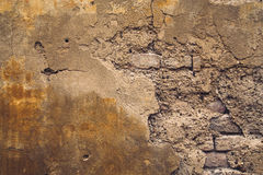 Old Crumbling European Wall Background Stock Images