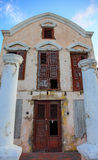 Old crumbling villa on Curasao Stock Photography