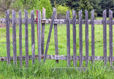 Old crumbling wooden fence Royalty Free Stock Images