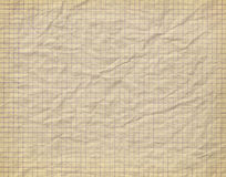 Old crumpled checkered paper Royalty Free Stock Photos