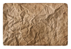 Old crumpled grungy card board Stock Photo