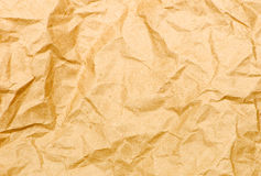 Old Crumpled Paper. Broun background Stock Photo