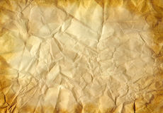 Old crumpled paper. Old vintage crumpled paper background Stock Images