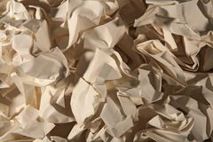 Old crumpled paper Stock Photo