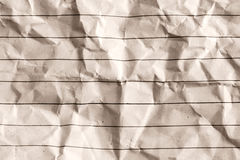 Old crumpled paper background Stock Photos