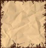 Old crumpled paper background Royalty Free Stock Images