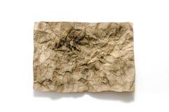 Old crumpled paper burn Stock Photo