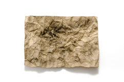 Old crumpled paper burn Stock Image
