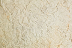 Old crumpled paper texture background. Old crumpled rough yellow paper texture horizontal background royalty free stock photos