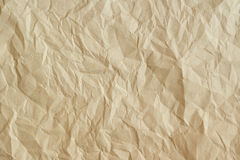Old crumpled parchment texture. Stock Photos