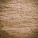 Old Crumpled Rough Paper Royalty Free Stock Photography