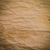 Old Crumpled Rough Paper Royalty Free Stock Images