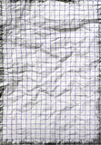 Old crumpled school paper Royalty Free Stock Photo