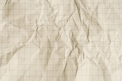 Old crumpled squared paper Royalty Free Stock Photography