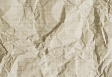 Old crumpled squared paper Royalty Free Stock Photo