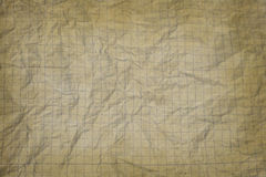 Old crumpled white graph paper Stock Images
