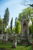 Old crypt in a cemetery in Lviv Stock Photo