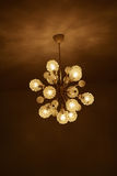 Old crystal chandelier. Stock Images