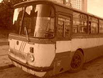 Old Cuban bus Royalty Free Stock Images