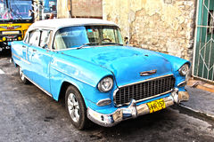 Old cuban car Royalty Free Stock Photos