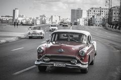 Cuban car. Old cuban car in the habana city Royalty Free Stock Photos