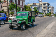 Old Cuban car Royalty Free Stock Images