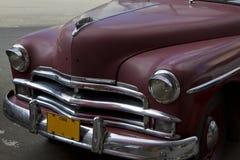 Old Cuban Classic Car. Old Maroon Classic Cuban Car Stock Image