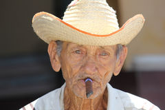 Old cuban man portrait Stock Image