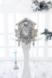 Old cuckoo clock in the new year Stock Photography