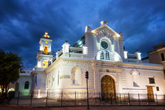 Old Cuenca Cathedral at Night Stock Image