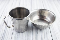Old cup and bowl Stock Photo
