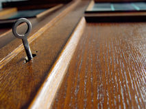 Old cupboard. Simple key to antique cupboard Stock Image