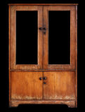 Old cupboard on black background Royalty Free Stock Photo
