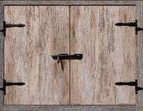 Old cupboard door Stock Image