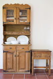 Old cupboard. Old and vitage cupboard on a rustic room royalty free stock photo