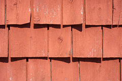 Old curling painted wood shingles Stock Image