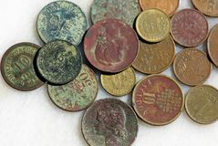 Old currencies. Of the Europe Stock Images