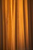 Old Curtain Abstract. House curtain illuminated by morning sunlight Stock Photos