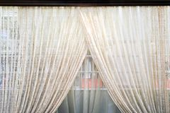Old curtains Stock Photography