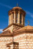 Old Curtea Veche church in Bucharest, Romania stock photography