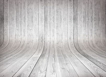 Old curved wooden background Stock Images