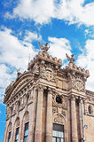 Old customs building constructed in Barcelona royalty free stock photos
