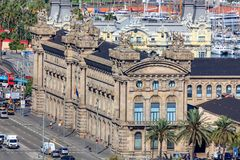 Old Customs House Aduana located on the waterfront in Barcelona, Stock Photography
